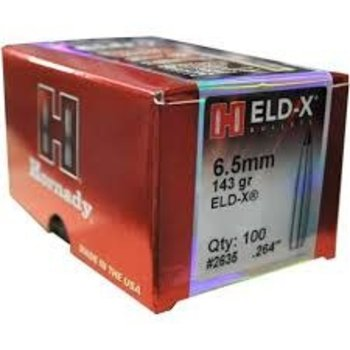 Hornady 6.5mm ELD-X 143Gr 100 Pack