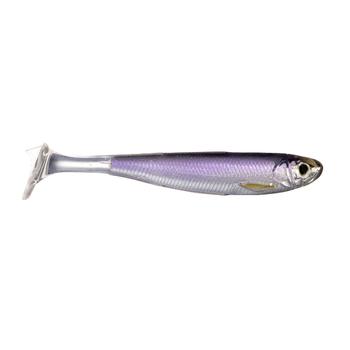 "Koppers Live Target Slow-Roll Shiner 4"" Silver/Purple 4-pk"
