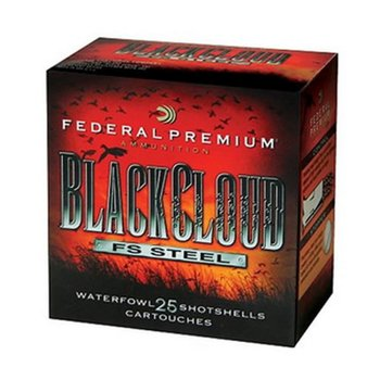 "Federal Black Cloud Premium Waterfowl Shotshells PWB1422, 12 Gauge, 3"", 1-1/4oz, 1450 fps, #2 Steel Shot - Box of 25"