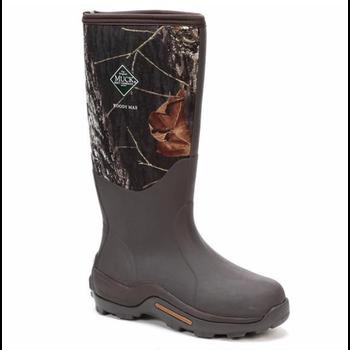 "Muck Men's Woody Max 17"" Waterproof Insulated Hunting Boot, Bark/Mossy Oak, 12"