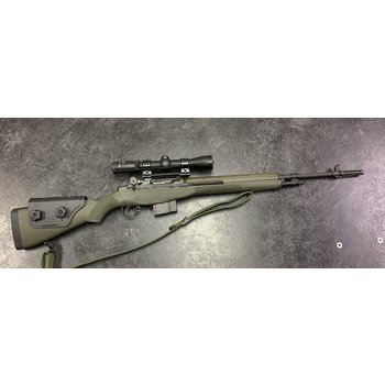 "Springfield M1A Standard Issue 22"" 7.62 Nato Semi Auto Rifle w/Burris Fullfield 30 LRS 3-9 Scope & 3 Mags"