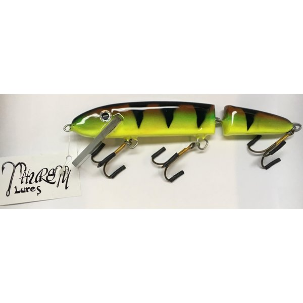 """Thursty Lures 9"""" Jointed Chartreuse Perch"""