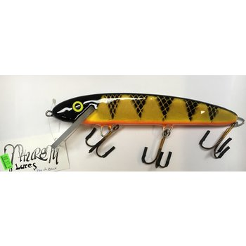 "Thursty Lures 9"" Solid St Lawerence Perch Black"