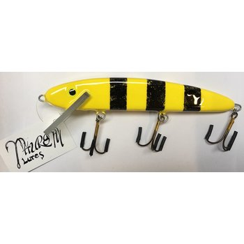 "Thursty Lures 9"" Solid Mustard w/Black Bars"