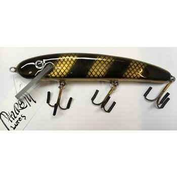 "Thursty Lures 9"" Solid Black Gold Bar Scale"