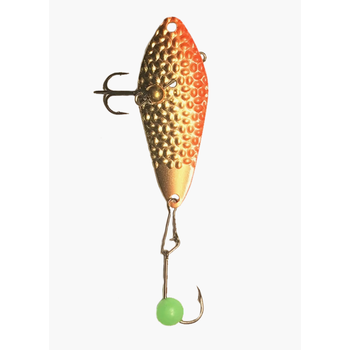 Freedom Hammered Minnow Spoon 1/8oz Gold Orange