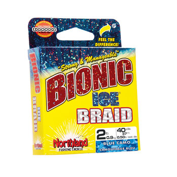 Northland Bionic Ice Braid Line 4lb 40yds Blue Camo