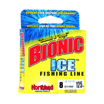 Northland Bionic Ice Fishing Line 3lb Clear 125yds