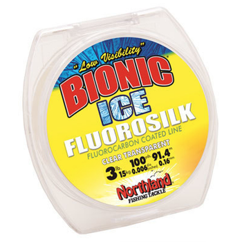 Northland Bionic Ice Fluorosilk Line. 4lb 100yds Clear.