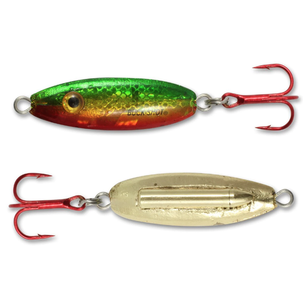 Northland Buck-Shot Rattle Spoon. 3/4oz Golden Perch