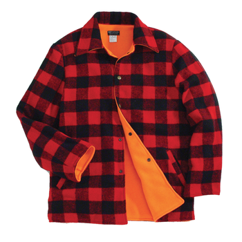 Backwoods Lumberjack Reversible Hunting Jacket, Red/Black Check, XXXL