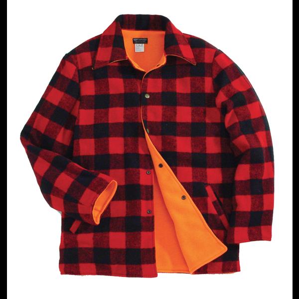 Lumberjack Reversible Hunting Jacket, Red/Black Check, XL