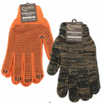 Backwoods Knitted Gloves, Green Camo w/PVC Dots