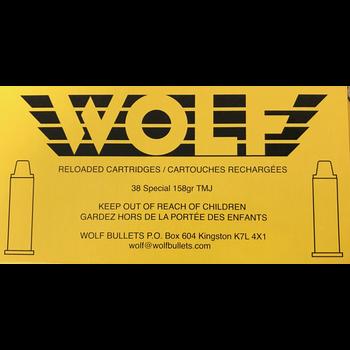 Wolf Remanufactured Handgun Ammo 38 Special 148gr Wolf Brass Hollow Base Wad Cutter 50 Rounds