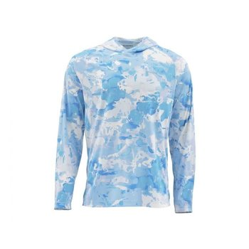 Simms SolarFlex Hoody Cloud Camo Blue XXL