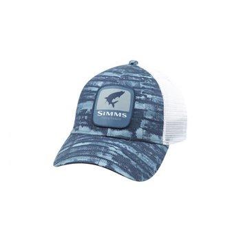 Simms Tarpon Patch Trucker Hat Water Print Dusk
