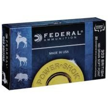 Federal Power-Shok Rifle Ammo 303 British 180gr sp