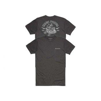 Simms Lightning Bass T-Shirt Charcoal M