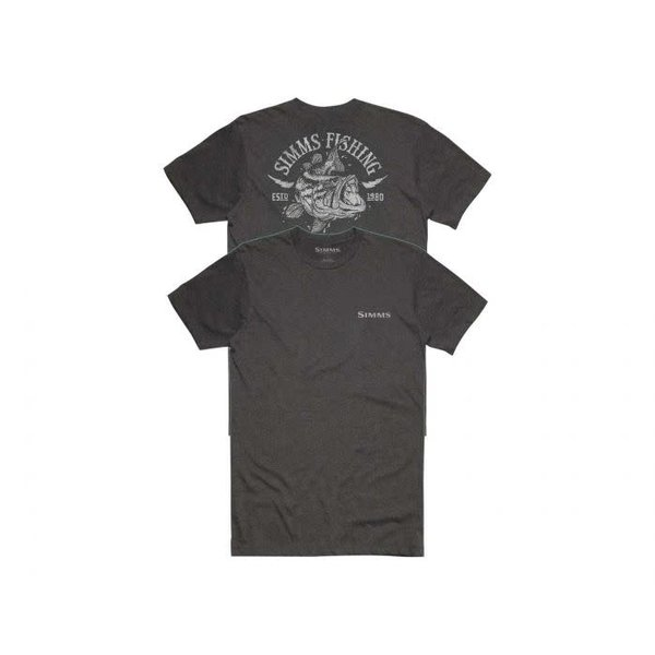 Simms Lightning Bass T-Shirt Charcoal L