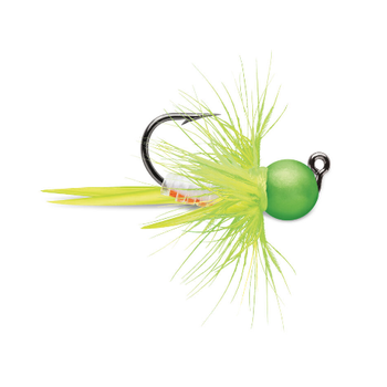 VMC Tungsten Bullfly Jig 1/16oz Glow Green Orange