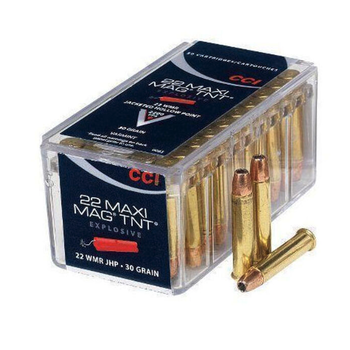 CCI Maxi-Mag TNT Ammo 22 WMR 30gr Jacketed  Hollow Point 2200fps 50 Rounds