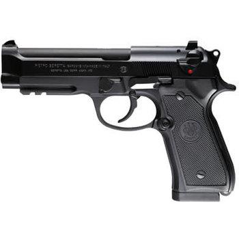 """Beretta 92A1 Semi-Auto Pistol J9A9F11, 9MM, 4.9"""", Black Polymer Grips, Matte Blue Finish, 10 Rd"""
