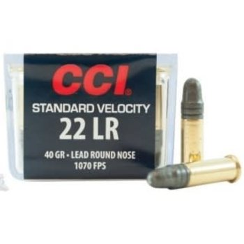 CCI Standard Velocity Ammo 22 LR 40gr Lead Round Nose 100 Rounds