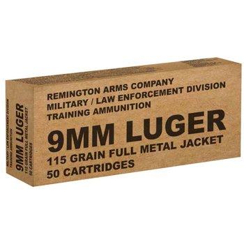 Remington B9MM3 9mm 115 Gr 50 Round Box 23959 Ammunition