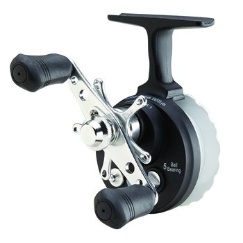 Eagle Claw Inline Ice Reel. Black/White