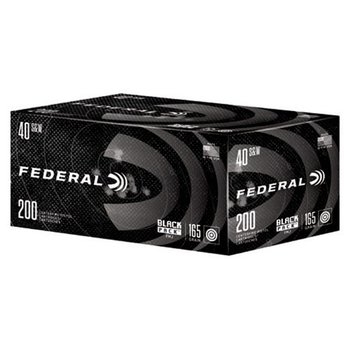 Federal Black Pack Ammo 40 S&W 165gr Full Metal Jacket 200 Rounds