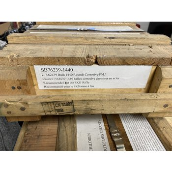 Chinese Surplus - 7.62x39, 123gr, FMJ, Crate of 1,440