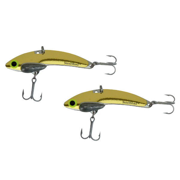 Steel Shad Mini 1/4oz Gold 2-pk