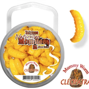 Euro Tackle Mummy Worm Yellow 35-pk
