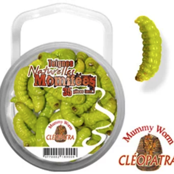 Euro Tackle Mummy Worm Chartreuse 35-pk