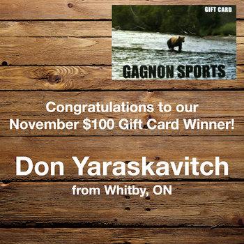November Gift Card Winner
