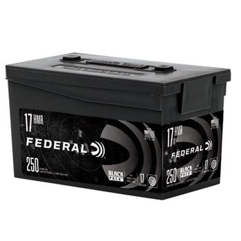Federal Black Pack 17 HMR 17Gr HP Ammunition Box of 250