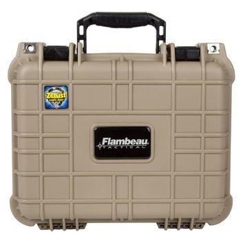 "Flambeau Flambeau Small Heavy Duty Hangun Case 11.75""x9""x5"" Desert Tan"