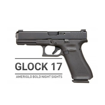 Glock 17 Gen 5 MOS W/Ameriglo Bold Night Sights 9mm Pistol