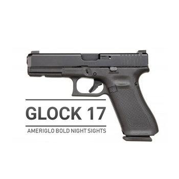 Glock 17 Gen 5 W/Ameriglo Bold Night Sights 9mm Pistol