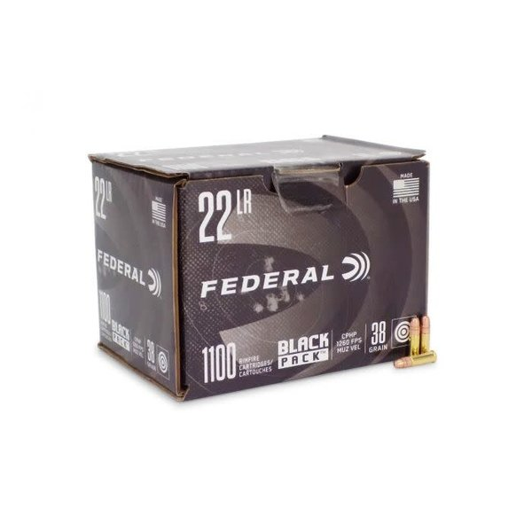 Federal Black Pack Ammo 22LR 36gr CPHP 1100 Rounds
