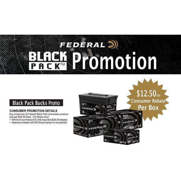 "Federal Black Pack Ammo 12ga 2-3/4"" 00 Buckshot 75 Round"