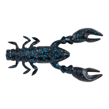 "PowerBait The Champ Craw 3.5"" Black Blue Flake 6-pk"