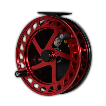 "Raven Raven XL Helix Centrepin Float Reel 5"" Red/Black"