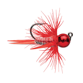 VMC Tungsten Bullfly Jig 1/32oz Metallic Red 2-pk