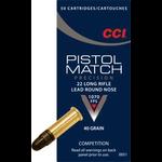 CCI CCI Pistol Match 22 LR Ammo