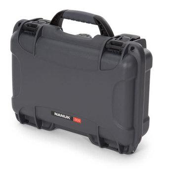 """Nanuk 909-1007 909 Case w/Foam, 12.64"""" x 9.0"""" x 4.38"""", Graphite"""
