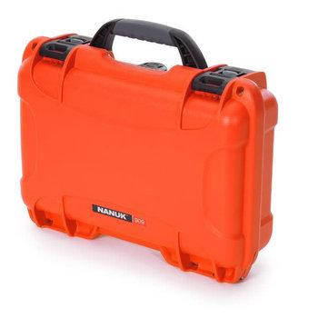 """Nanuk Nanuk 909 Case w/Foam, Orange, 12.64"""" x 9.0"""" x 4.38"""", 909-1003"""