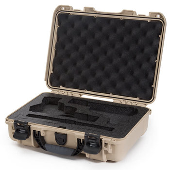 Nanuk 910 2UP Case with Foam insert for Classic Gun, Tan, 910-CLASG0