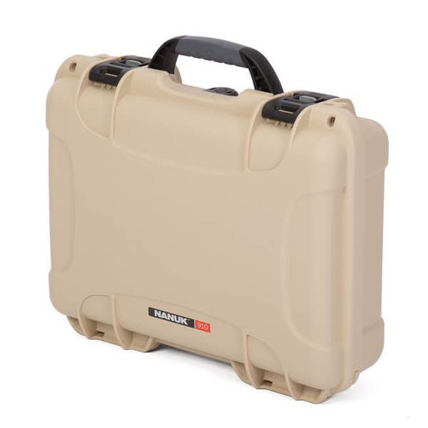 Nanuk 910 Case Tan with Cubed Foam Watertight, Dustproof 910-1000