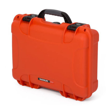Nanuk 910 Case Orange with Cubed Foam Watertight, Dustproof 910-1003